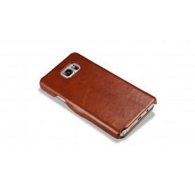 iPhone X Etui en cuir vert modèle Luxury Series Side-open