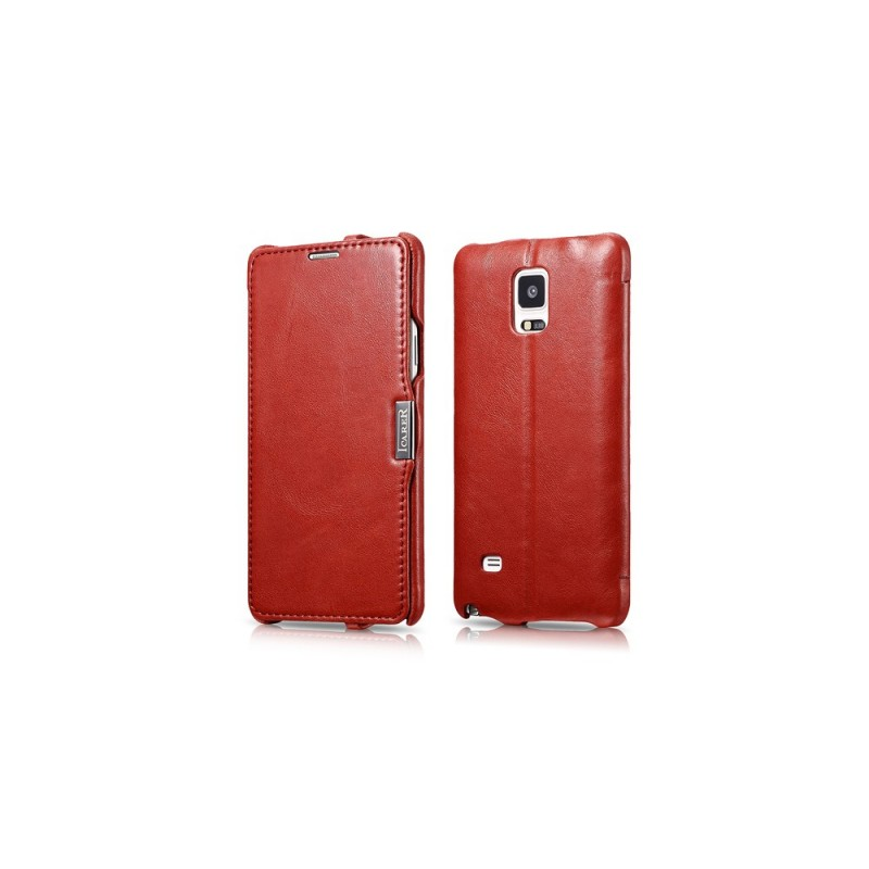 Etui icarer pour Samsung Note 4 rouge