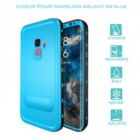 Coque waterproof pour Samsung Galaxy S9 Plus en Bleu