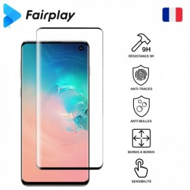 Antichoc Tempered Glass Fairplay pour Galaxy S10 Plus Noir