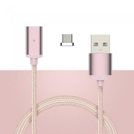 Câble de Charge Magnétique USB Type C 1M Rose
