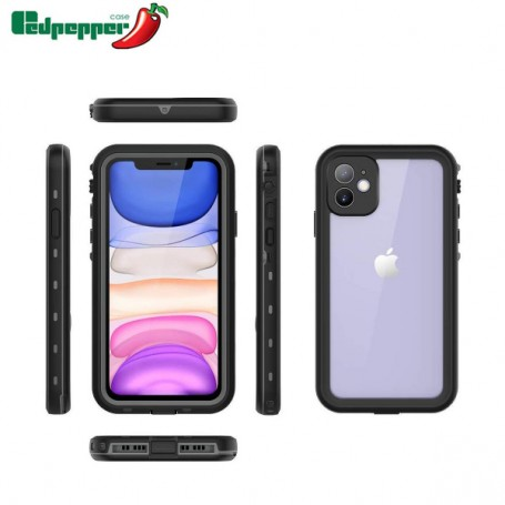 Coque Redpepper Waterproof Noire pour iPhone 11