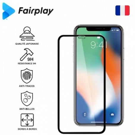 Antichoc Verre Trempé Fairplay Full 3D pour iPhone 7/8/SE 2 Blanc