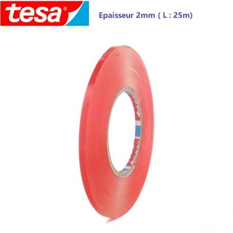 TESA Adhésif Double face Transparent Epaisseur 2mm (25m)