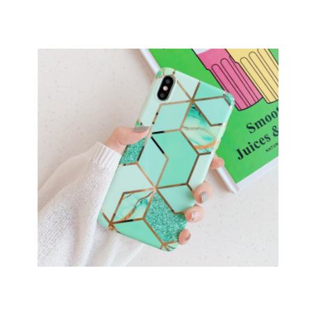 Coque Motif Marbre vert iPhone 7/8 Plus X XR XS XS MAX 11 11PRO  PRO MAX 12 12PRO 12PRO MAX