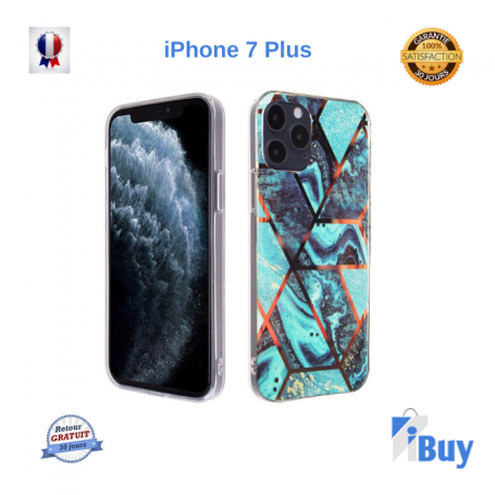 Coque Motif Marbre Bi-Color iPhone 7/8 Plus X XR XS XS MAX 11 11PRO  PRO MAX 12 12PRO 12PRO MAX