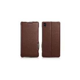 Etui cuir pour Sony Z2 marron