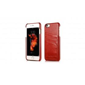 Etui en cuir pour iPhone 6 6s Rouge