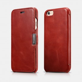 Etui cuir pour iPhone 6 6s Rouge