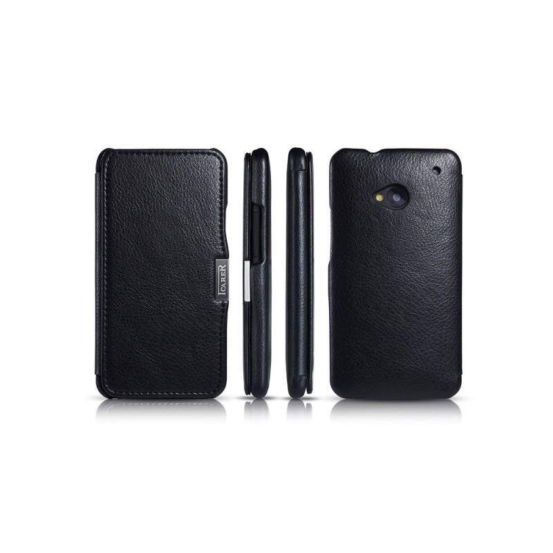 Etui cuir pour HTC one M7 noir
