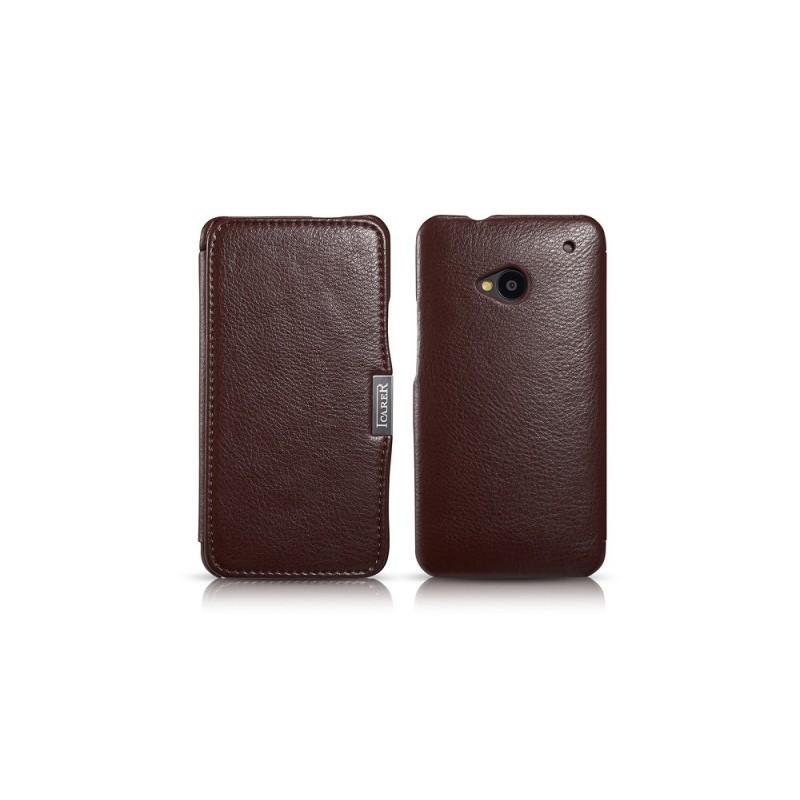Etui cuir pour HTC One M7 Marron