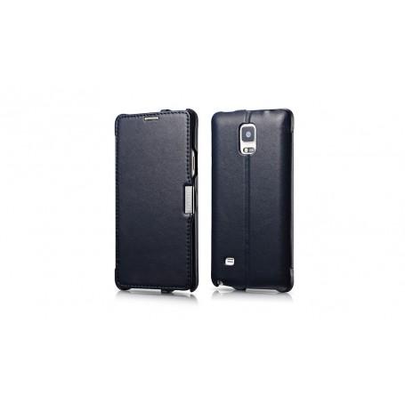Etui cuir Note 4 Luxury Bleu