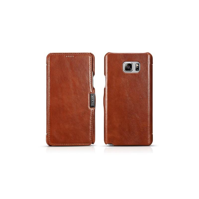 Etui Samsung Note 5 marron