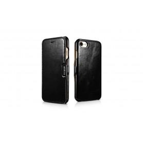 Etui cuir iPhone 7 8 noir