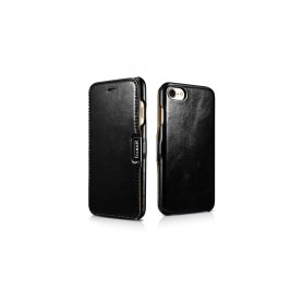 Etui cuir iPhone 7 8 noir