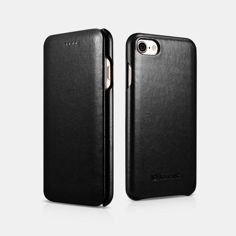 Etui cuir iPhone 7/8 noir