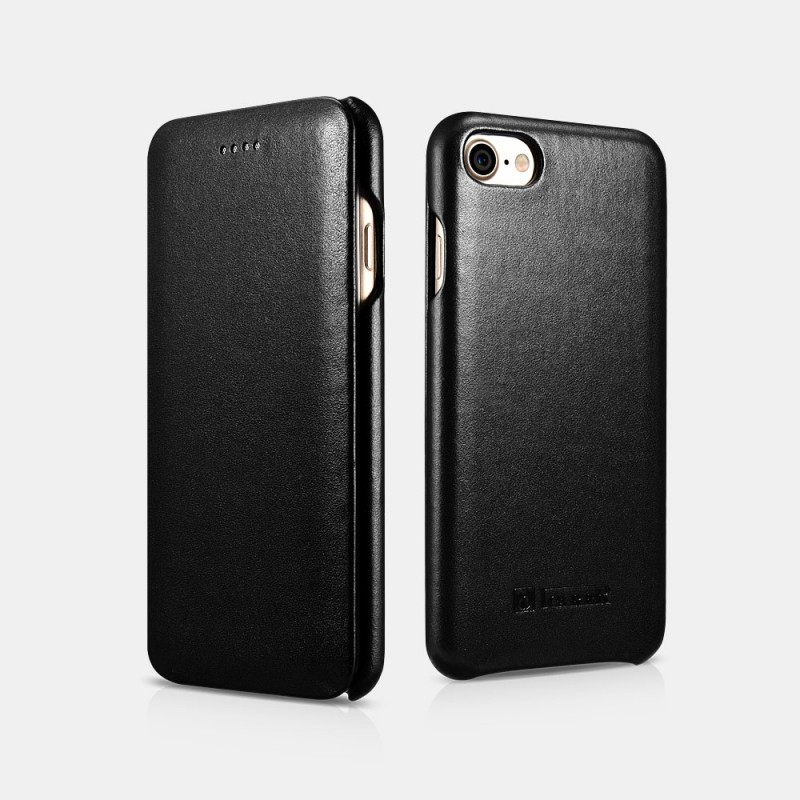 Etui cuir iPhone 7/8 noir
