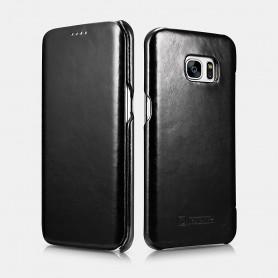 Etui cuir Galaxy S7 Edge noir