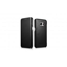 Etui cuir Samsung S7 Edge noir
