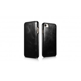 Etui cuir iPhone 7 Plus/8 Plus noir