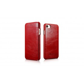 Etui cuir iPhone 7 Plus/8 Plus rouge