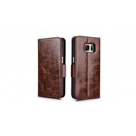 Etui cuir Galaxy S7 Edge café
