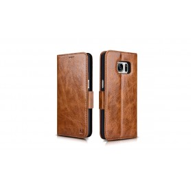 Etui cuir Galaxy S7 marron