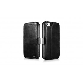 Etui cuir iPhone 5 5s SE noir