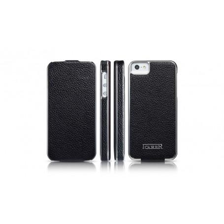 Etui cuir iPhone 5 5S SE noir