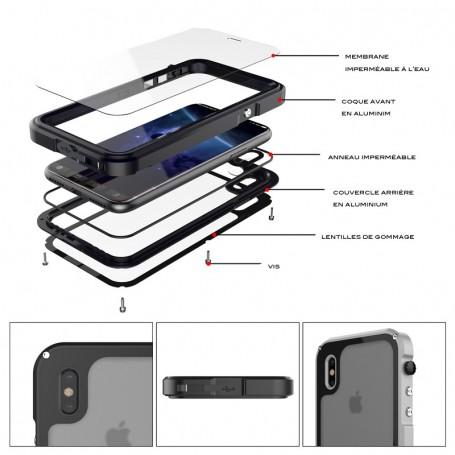 Coque Noire Pour iPhone X iPhone XS Redpepper Waterproof
