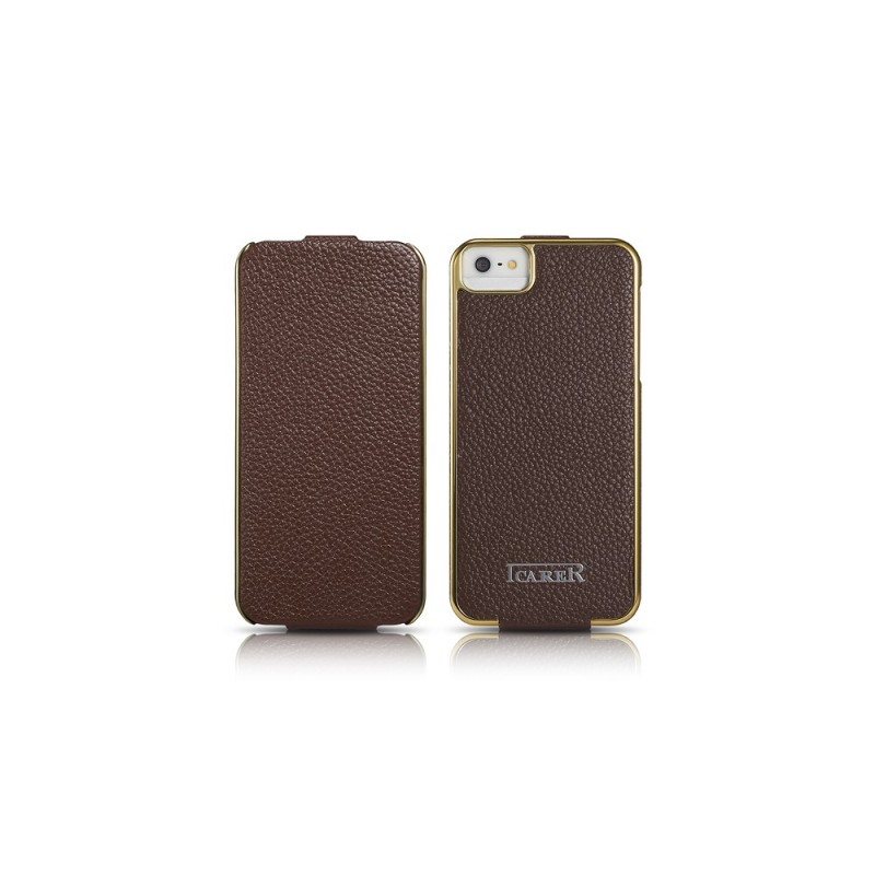 Etui cuir iPhone 5 5S SE marron