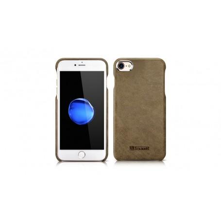 Etui en cuir véritable Metal Warrior Vert iPhone 7/8