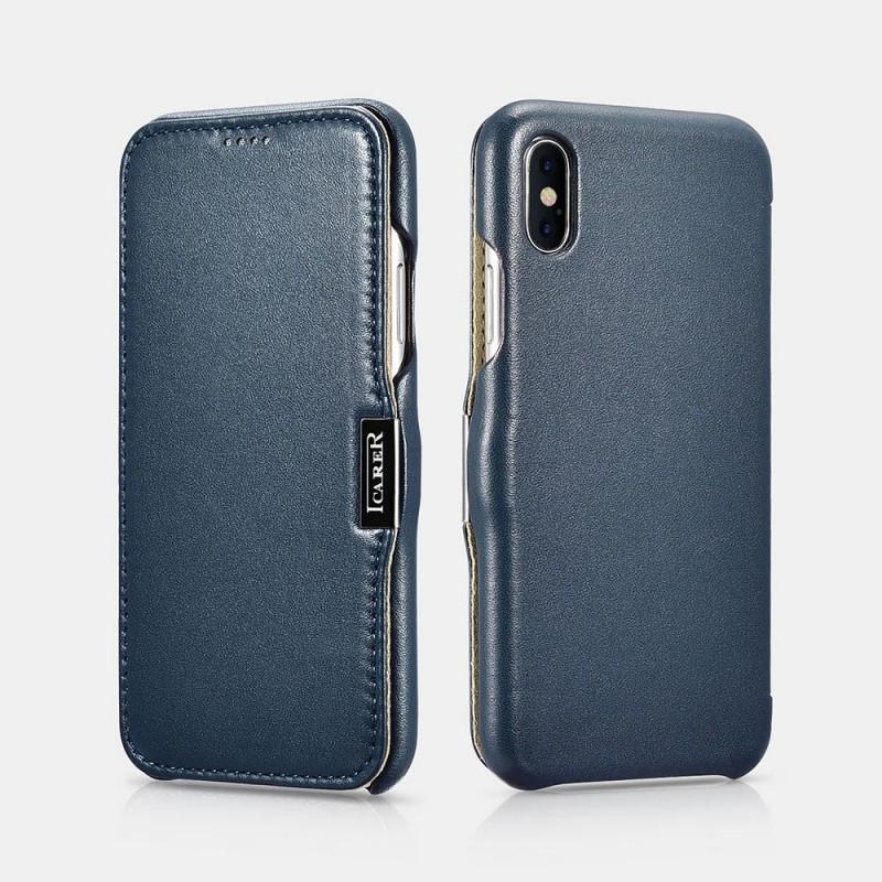 Etui iPhone X XS bleu