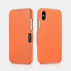 Etui cuir iPhone X XS Orange