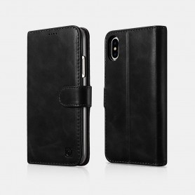Etui cuir noir iPhone X XS