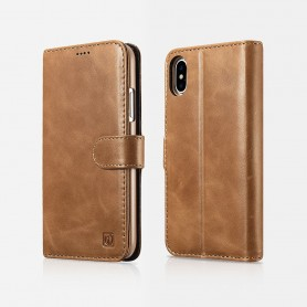 Etui cuir iPhone X XS marron