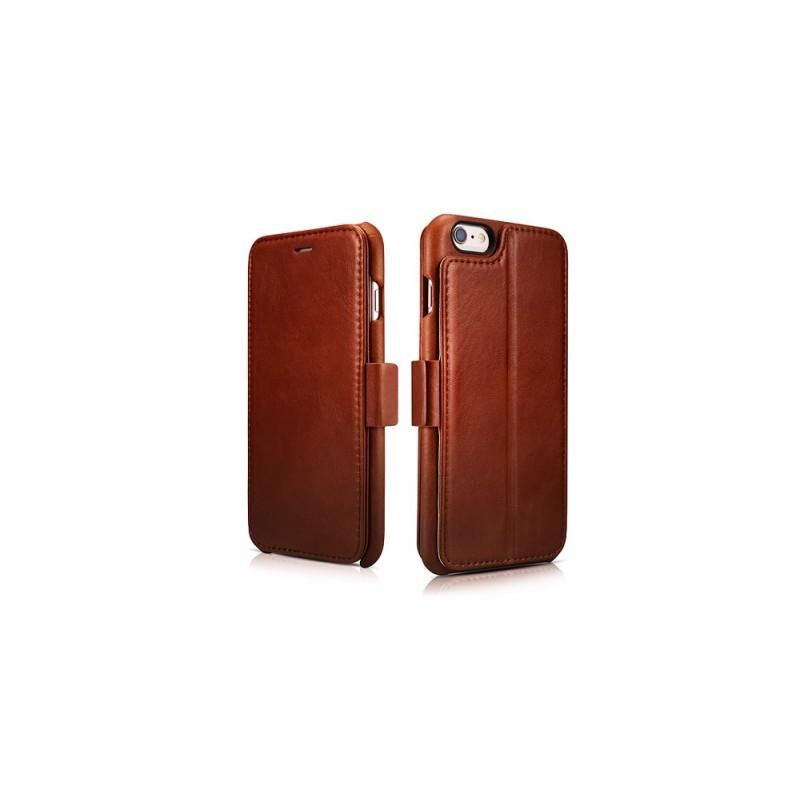 Etui en cuir pour iPhone 6 6s Marron