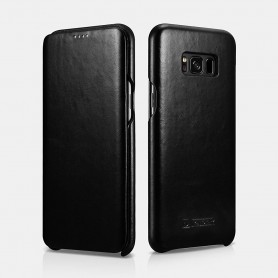 Samsung Galaxy S8 Etui Curved Edge Vintage Noir