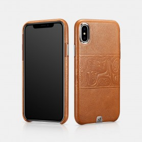 Coque ariière iPhone X XS marron