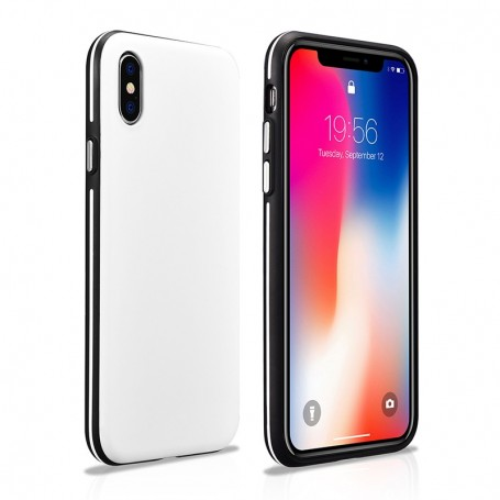 a9372d255e8a iPhone X XS Coque arrière ultra mince Colorful Blanc