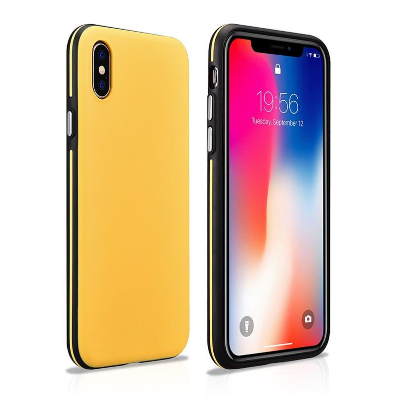 coque apple iphone x jaune