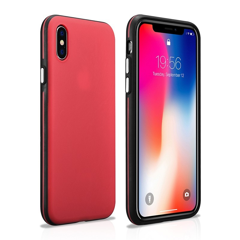 Coque iPhone X XS rouge