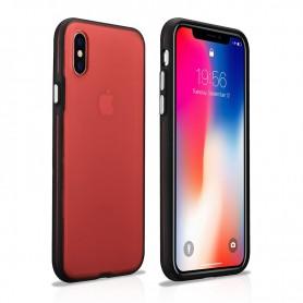 Coque arrière iPhone X XS rouge