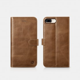 iPhone 7 Plus / iPhone 8 Plus Etui en cuir véritable