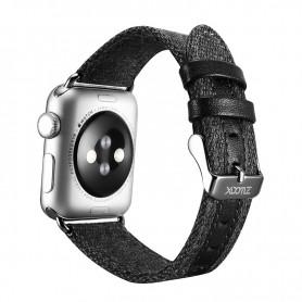 Apple iWatch 38 mm Bracelet en tissu de luxe Noir