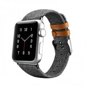 Apple iWatch 38 mm Bracelet en tissu de luxe Gris