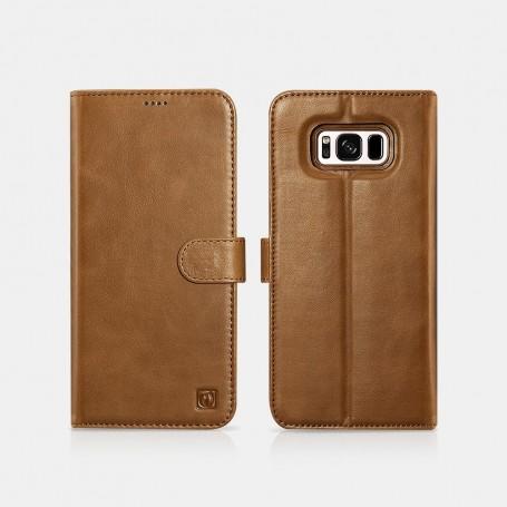 Samsung S8 Genuine Leather Detachable 2 in 1 Wallet Folio Case Marron