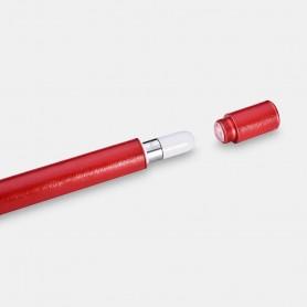 Microfiber Leather iPad Pencil Aluminium Container Rouge