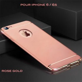 iPhone 6 6s coque Ultra fine 3 en 1 en PC dur Rose Gold