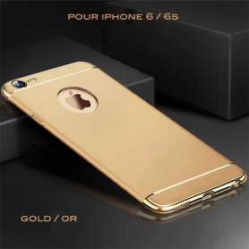 iPhone 6 6s coque Ultra fine 3 en 1 en PC dur Gold